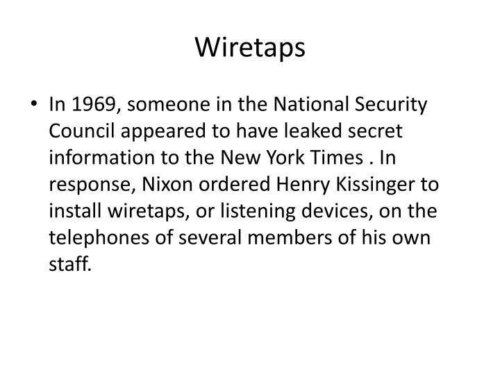 Wiretaps