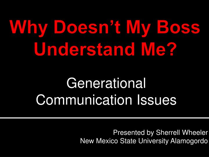 Presented by sherrell wheeler new mexico state university alamogordo