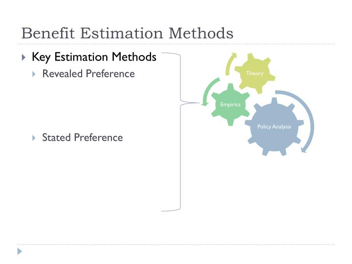Benefit Estimation Methods