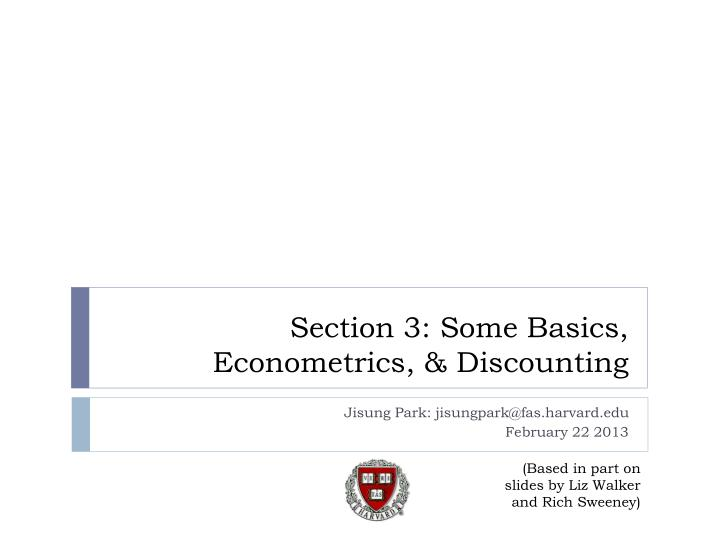 Section 3 some basics econometrics discounting