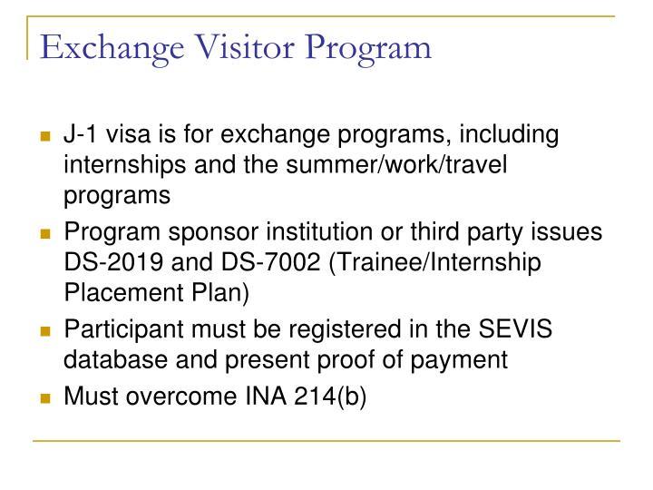 Exchange Visitor Program