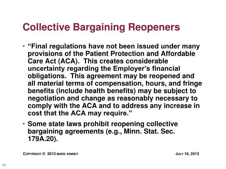 Collective Bargaining Reopeners