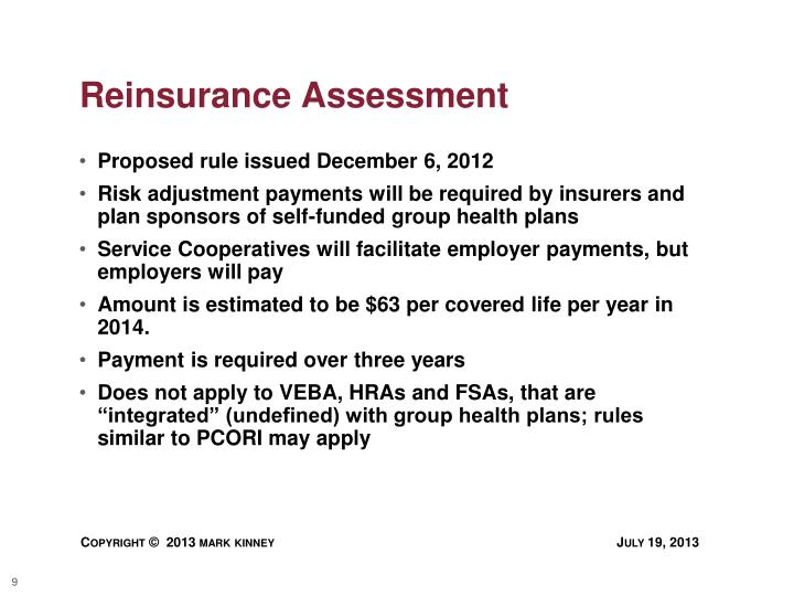 Reinsurance Assessment