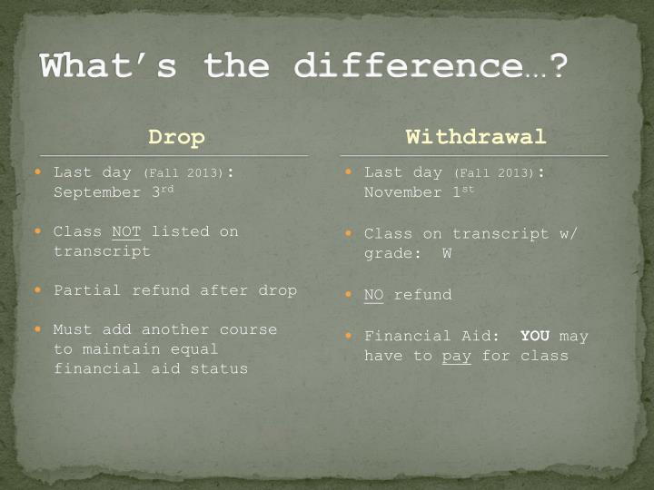 What's the difference…?