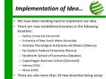 implementation of idea