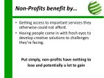 non profits benefit by