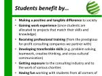 students benefit by