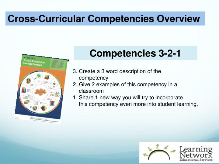 Cross-Curricular Competencies Overview