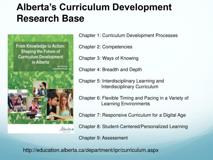 Alberta's Curriculum Development Research Base