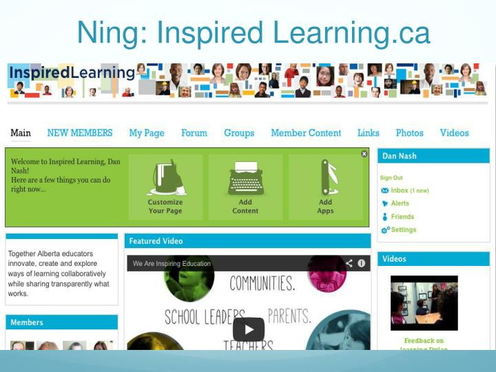 Ning: Inspired Learning.ca