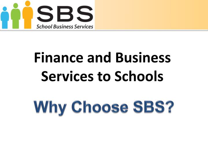 Finance and Business Services to Schools
