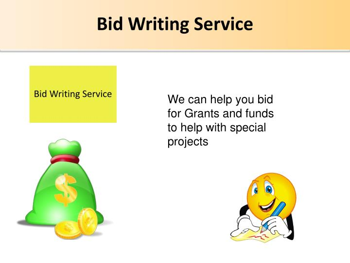 Bid Writing Service