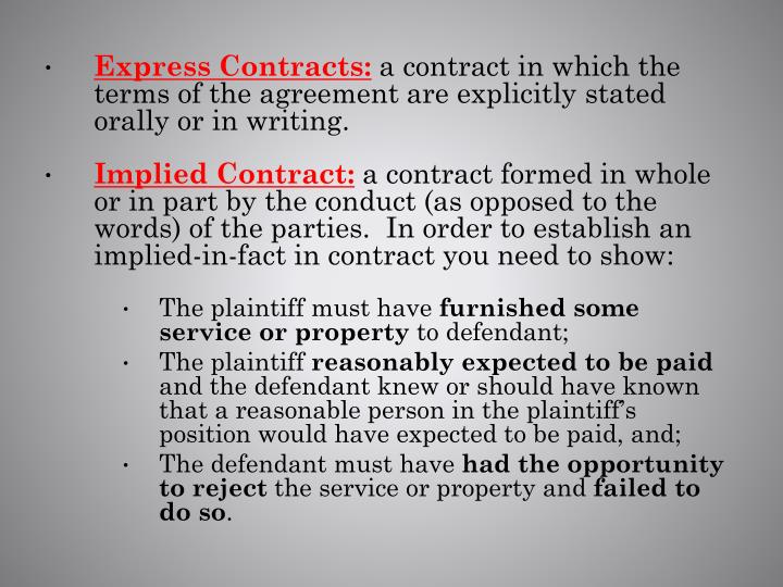 Express Contracts: