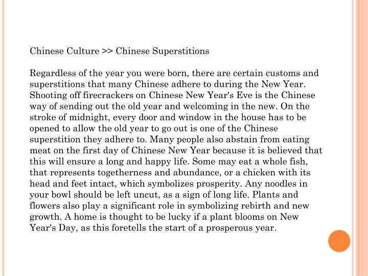 Chinese Culture >> Chinese Superstitions