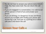 screen your calls