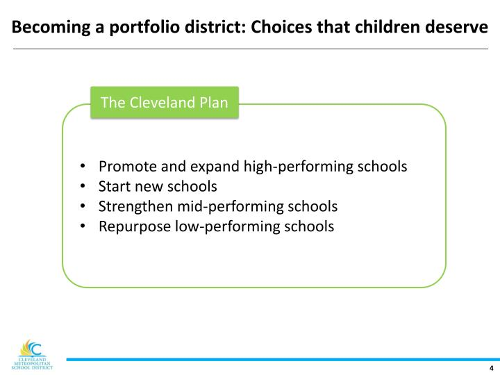 Becoming a portfolio district: Choices that children deserve