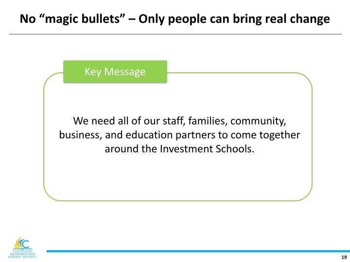 "No ""magic bullets"" – Only people can bring real change"