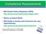 compliance requirements5