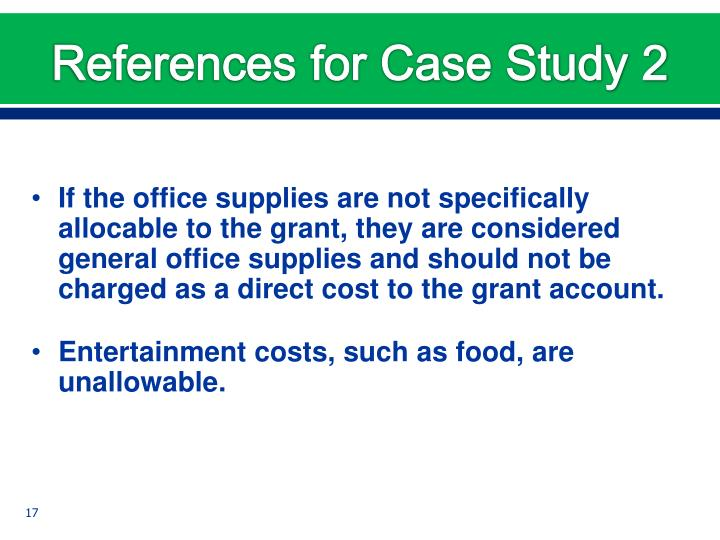 References for Case Study 2