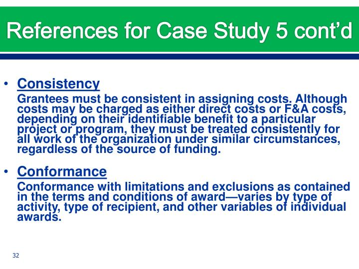 References for Case Study 5 cont'd