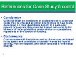 references for case study 5 cont d