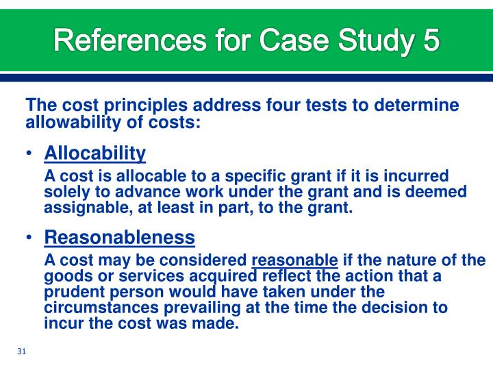 References for Case Study 5
