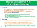 related excerpts from nih grants policy statement2
