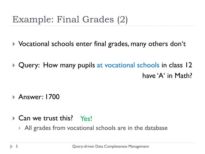 Example: Final Grades (2)