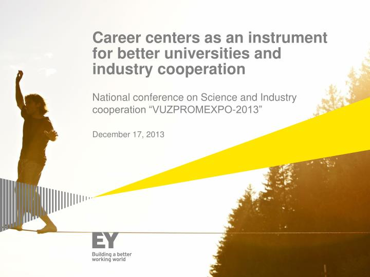 Career centers as an instrument for better universities and industry cooperation
