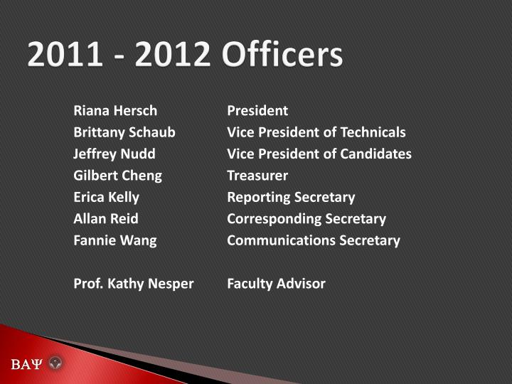 2011 2012 officers