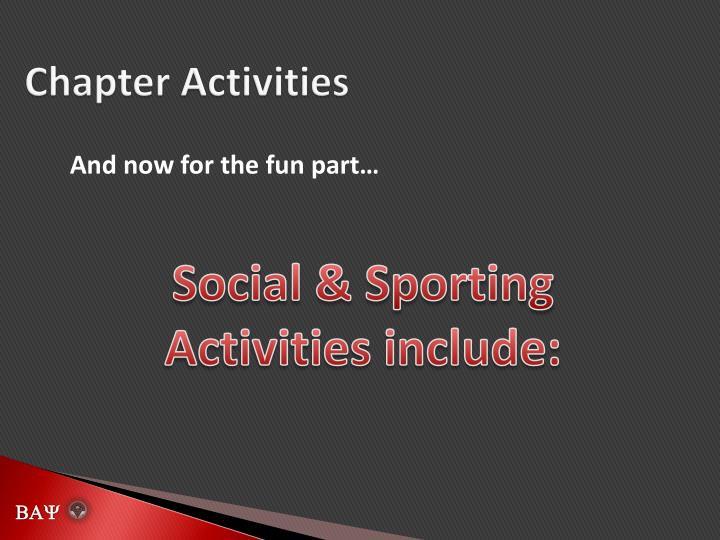 Chapter Activities