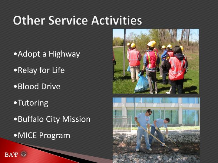 Other Service Activities