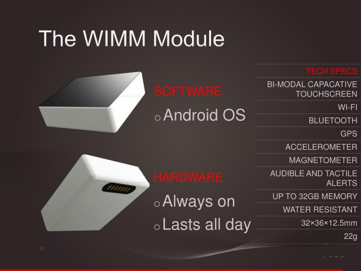 The WIMM Module