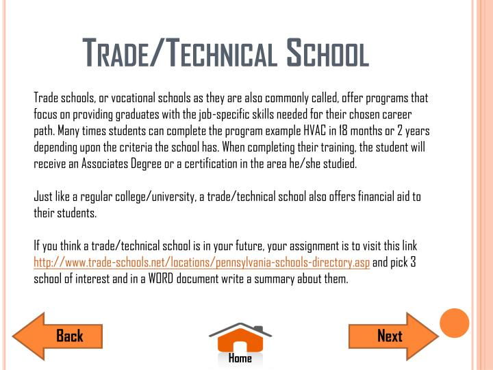 Trade/Technical School