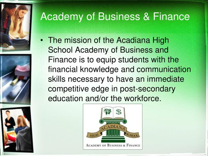 Academy of Business & Finance