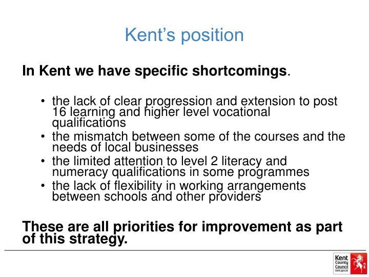 Kent's position