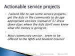 actionable service projects