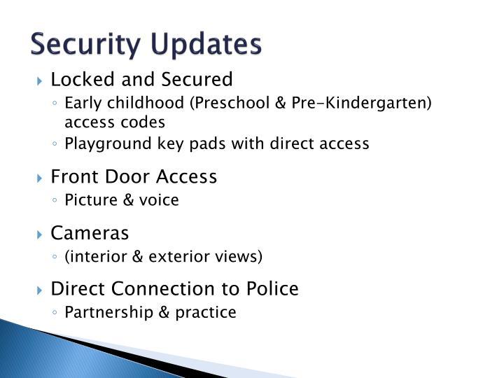Security Updates