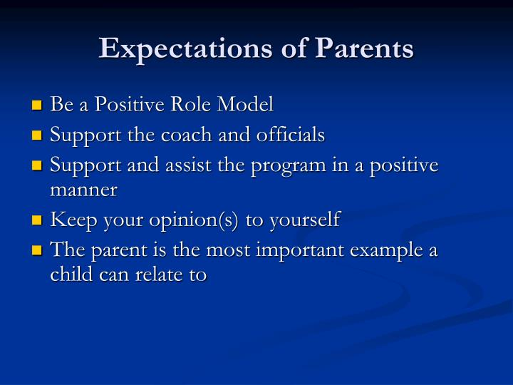 Expectations of Parents