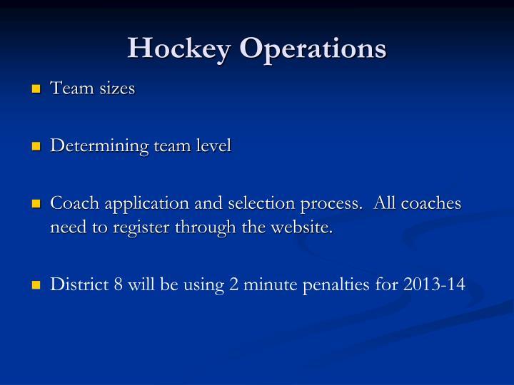 Hockey Operations