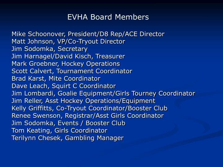 EVHA Board Members