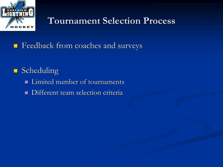Tournament Selection Process