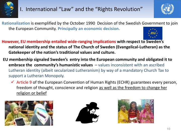 "I.  International ""Law"" and the ""Rights Revolution"""