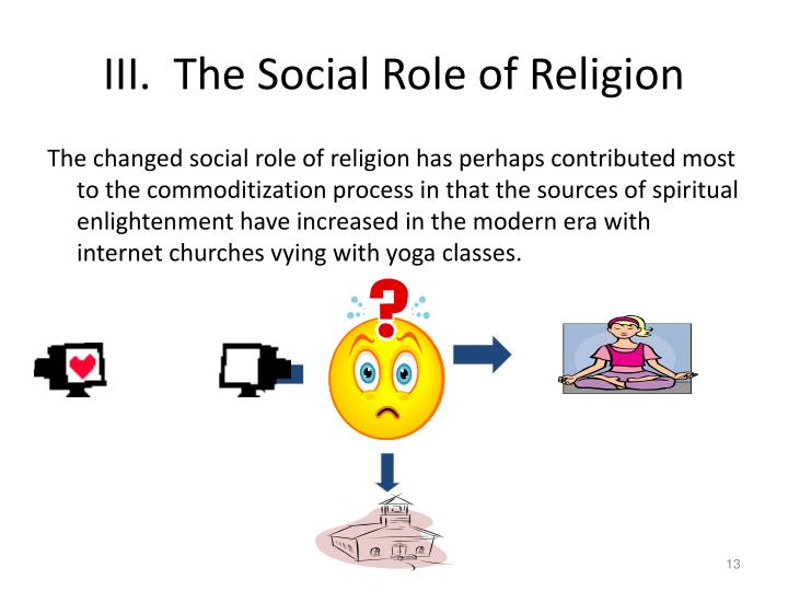 III.  The Social Role of Religion