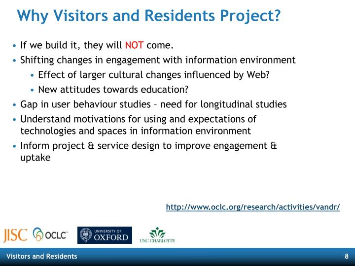 Why Visitors and Residents Project?