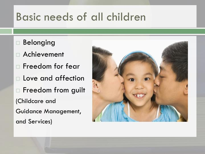 Basic needs of all children