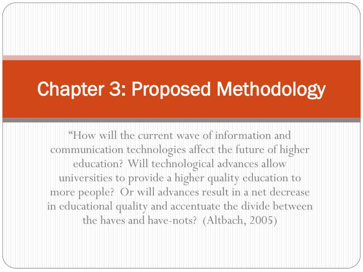 Chapter 3: Proposed Methodology