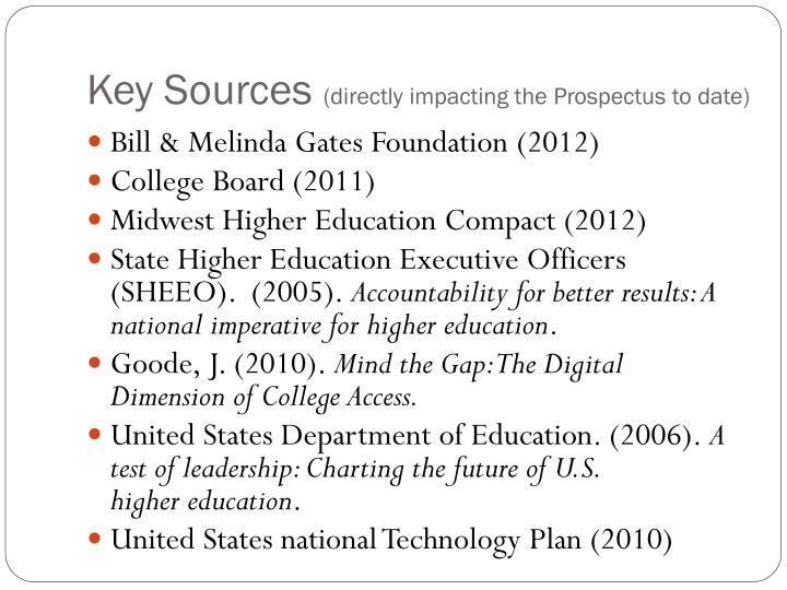 Key Sources