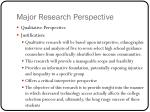 major research perspective