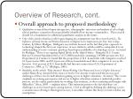 overview of research cont1